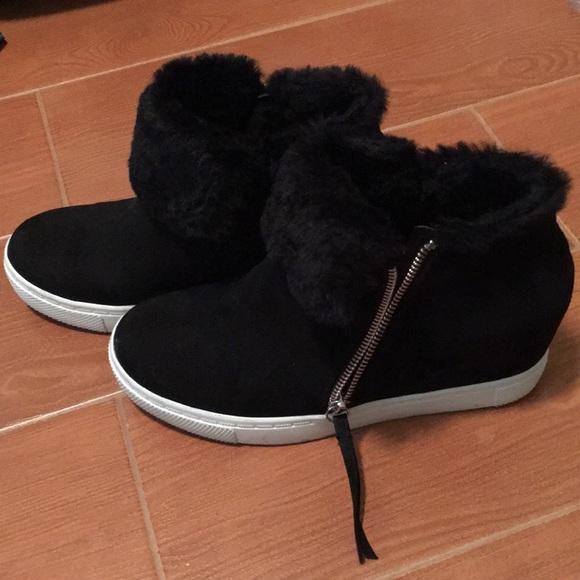 55189ac79ee Brash Shoes - Women s Fur CeCe Hidden Wedge suede size 7.5